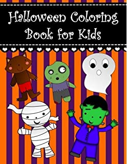 Halloween Coloring Book for Kids Large Print Coloring Activity