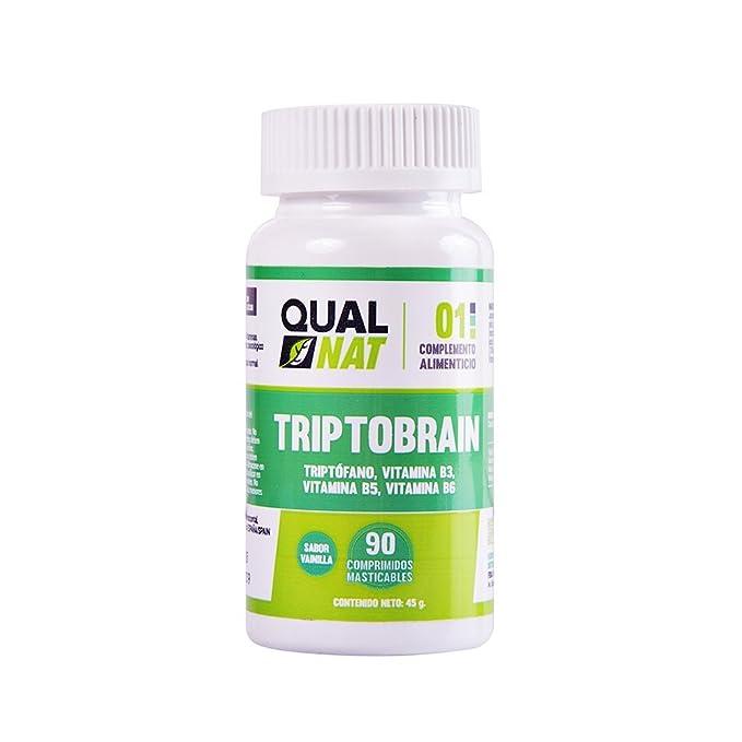 Triptófano Masticable | Con Vitaminas B6, vitamina B3 y vitamina B5 | Mejora el Sueño y Controla El Estado de Ánimo | 90 Comprimidos