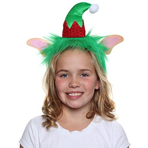 Furry Elf Ears Hat Headband (Christmas Elf Ears)