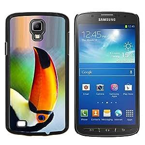 YiPhone /// Prima de resorte delgada de la cubierta del caso de Shell Armor - Loro Pájaro tropical Naturaleza Naranja Selva - Samsung Galaxy S4 Active i9295