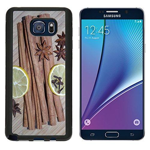 MSD Premium Samsung Galaxy Note 5 Aluminum Backplate Bumper Snap Case Star Anise Cinnamon Lemon Cloves Image -