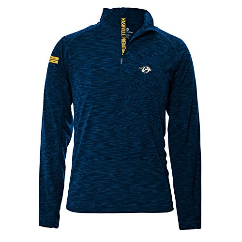 (Levelwear LEY9R NHL Nashville Predators Men's Mobility Insignia Strong Style Quarter Zip Mid-Layer Apparel, X-Large,)