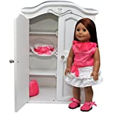 """The Queen's Treasures Victorian Style Armoire. Storage Trunk Case Closet Fits 18 Inch """" American Girl Doll Furniture, Clothing & Accessories."""