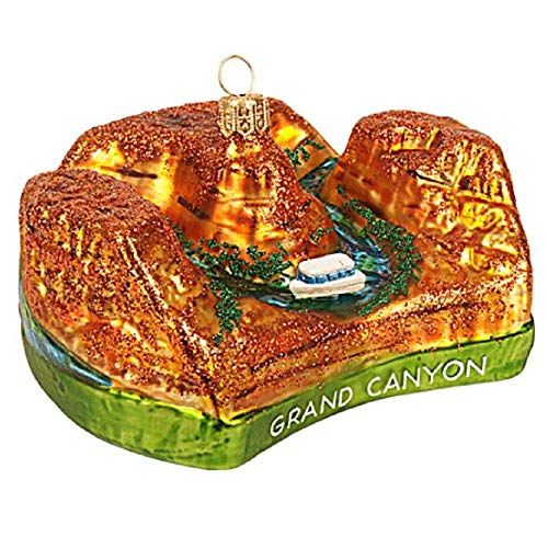 Pinnacle Peak Trading Company Grand Canyon Polish Glass Christmas Tree Ornament Arizona Travel Decoration AZ]()