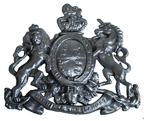 Vintage Style Heavy CAST Safe Wall Plaque Plate - Rarest Rare - Best Collection: (Aluminum, Royal Crest - Small)
