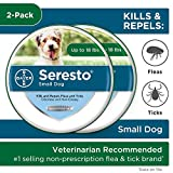 Seresto Flea and Tick Collar for Dogs, 8-Month Tick and Flea Collar for Small Dogs 2-Pack, Up to 18 Pounds