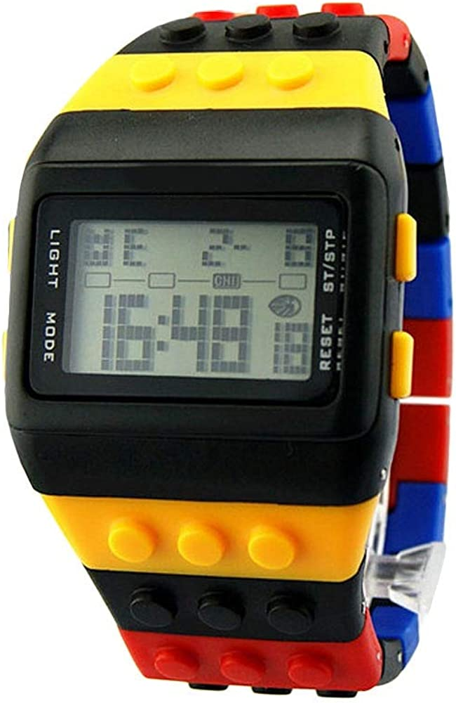 Montre Fille Électronique LED Arc-en-Enfants coloré numérique Montres Montre-Bracelet numérique garçons Filles des Montres de Sport Montres-Bracelets Enfants Ajustable 2