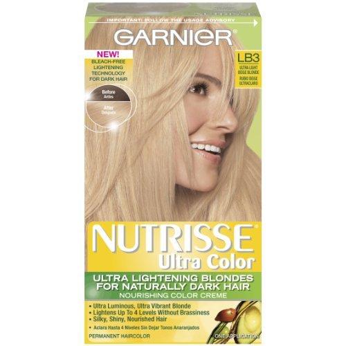 Garnier Nutrisse Ultra Color teintures pour les cheveux, Lb3 Ultra Light Beige Blonde (pack de 3)