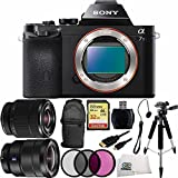 Sony Alpha a7S ILCE-7S/B ILCE-7S ILCE-7 Compact Full Frame Mirrorless Camera + FE 28-70mm f/3.5-5.6 OSS Lens + Sony 16-35mm Vario-Tessar T FE F4 ZA OSS E-Mount Lens + 32GB Bundle 10PC Accessory Kit