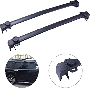AUXMART Roof Rack Cross Bars Replacement Rooftop Rail Crossbars System Fit for 2017-2019 Jeep Compass MP New Body Style Aluminum Cargo Carrier Raggage Rack with Side Rails