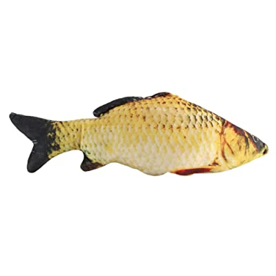 Mumusuki Creative 3D Carp Fish Shape Simulation Cushion Throw Pillow Children Novelty Gift Toy Sofa Home Decor(40cm): Toys & Games