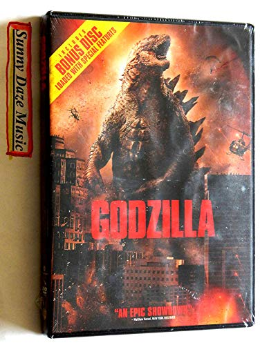 GODZILLA Widescreen FACTORY-SEALED 2-Disc Edition – Warner Brothers 2014 – A NEW DVD Movie – Graded 9.9 BY THE SELLER – Includes lots Of SPECIAL FEATURES on Disc 2