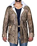 Real Leather BC Bomber Brown Swedish Shearling Leather sheepskin Coat (M) [RL-BNCO-BR-M]