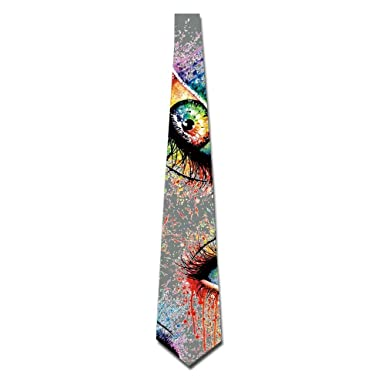 Bag hat Creepy Eyes Rainbow Mens Classic Neckties Suits Neck ...