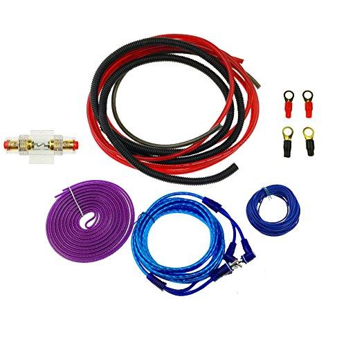 Minn Kota Circuit Breaker (KUMEED 6GA Gauge AWG Complete Amp Kit Ga Awg Amplifier Install Wiring Kit 1200W)