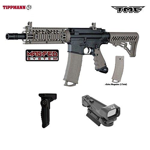 Tippmann TMC MAGFED Paintball Gun Tactical Package - Black/Tan ()