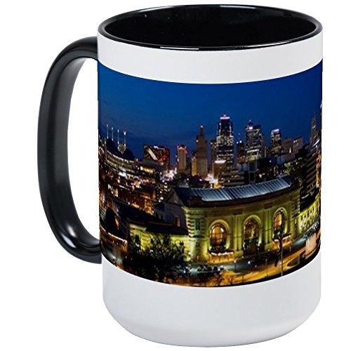 CafePress - Kansas City Skyline Large Mug - Coffee Mug, Large 15 oz. White Coffee Cup -