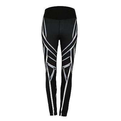 Targogo Leggings Damas Moda Elástico Cintura Yoga Deportes Elástico Entrenamiento Fitness Correr Lápiz Pantalones Flaco Pantalones Deportivos: Ropa y accesorios