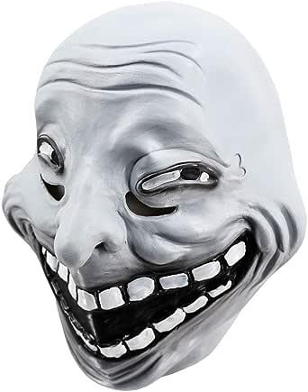 Amazon.com: Troll Face Meme Mask Cartoon Full Head Latex ...