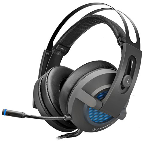 Overear PC Gaming Headset Headphones with Mic, 7.1 Virtual Surround Sound and RGB Illumination