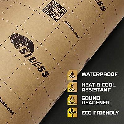 Siless Liner 157 mil 36 sqft Sound Deadening mat - Sound Deadener Mat - Car Sound Dampening Material - Sound dampener - Sound deadening Material Sound Insulation - Car Sound deadening: Automotive
