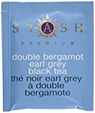 Stash Tea Double Bergamot Earl Grey Tea 100 Count Box of Tea Bags, Full Caffeine Tea, Black Tea with Bergamot, Enjoy Hot or Iced