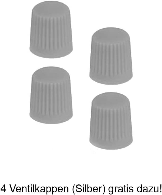 passend f/ür Fast alle Fahrzeuge inkl 4 Ventilkappen. Schwarz//Silber Radkappen 15 Zoll Orden Silber R