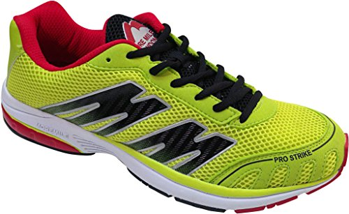 More Mile London Pro Strike - Zapatillas de running unisex (ligeras) Lime / Black / Red Talla:Size 7 Lime / Black / Red