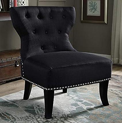 Amazon.com: Hebel Kitchener Linen Accent Chair | Model ...
