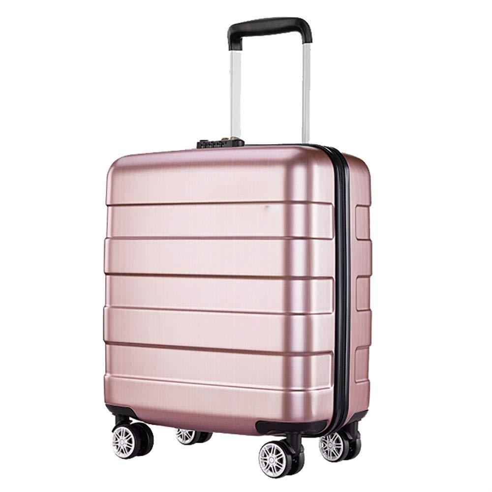 トロリースーツケースの女性のボードシャーシライト小さなスーツケースの男性のスーツケースユニバーサルホイール航空機ボックスは、金46 * 24 * 38.5CMをバラ   B07KR9V7R2