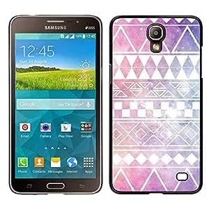 EJOY---Cubierta de la caja de protección para la piel dura ** Samsung Galaxy Mega 2 ** --modelo de estrellas el cielo nativo americano púrpura