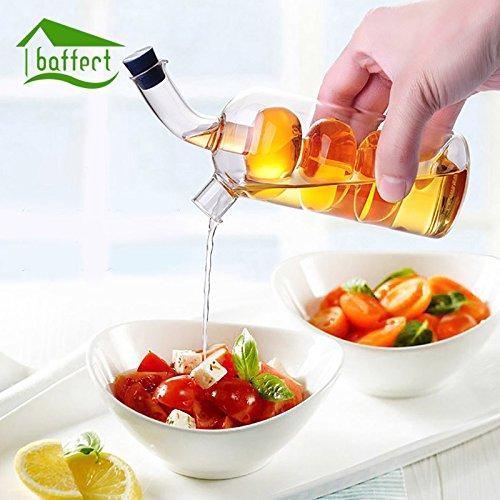 GreenSun(TM) High Temperature Spice Bottle Oil Vinegar Glass Sauce Glass Jar Sealed Seasoning Glass Storage Wine Bottles for Bar Kitchen (Barn Wine Modular Pottery Bar)