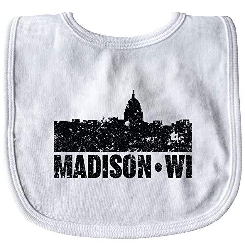 Inktastic - Madison Skyline Grunge Baby Bib White 355dd