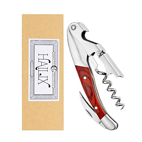 Professional Waiters Corkscrew & Bottle Opener for Sommeliers,Bartenders-Premium All-in-one Wine Opener and Foil Cutter with a Comfortable Rosewood handle-Gift Box