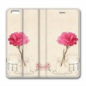 Iphone 6 Plus leather Case,Iphone 6 Plus Cases ,A pair of roses Custom Iphone 6 Plus(5.5)High-grade leather Cases