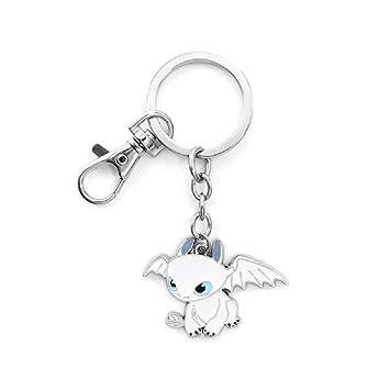Amazon.com: Llavero con forma de figura de dragón sin ...