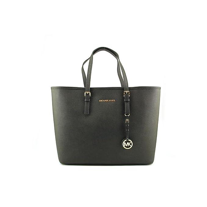 135e28f6e21d Michael Kors Jet Set Women's Travel Tote Handbag Purse - Black: Handbags:  Amazon.com