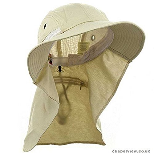 d6abeabfe03 Adam s Headwear Extreme Condition Hat - UPF 45+ Stone  Amazon.in  Clothing    Accessories