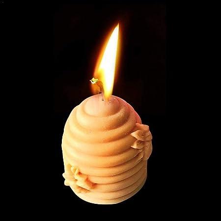 3D a nido dape della muffa della candela del silicone Beehive sapone Casting Mold Cilindro per DIY Crafts Fare
