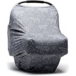 Baby Car Seat Cover - Nursing Cover - Stroller, Carseat Canopy Cover for Girls and Boys - Infant Car Seat Cover for Babies - Stretchy Baby Carrier Cover Breastfeeding Cover (Arctic Bears)