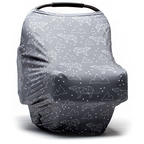Baby Car Seat Cover - Nursing Cover - Stroller, Carseat Canopy Cover for Girls and Boys - Infant Car Seat Cover for Babies - Stretchy Baby Carrier Cover Breastfeeding Cover - Pouch Slinky