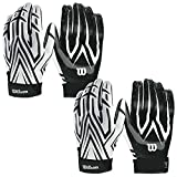 Wilson Adult MVP Clutch Football Running Back Receiver Gloves, XXL (2 Pairs)