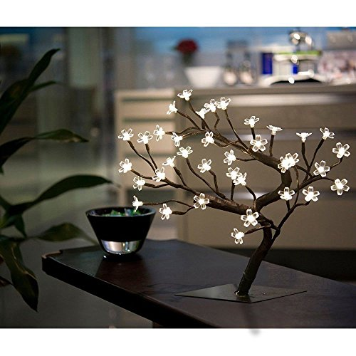 PinPle Lights Tree 2 Pack of Cherry Blossom Desk Top Bonsai Tree Light with Low Voltage for Christmas / Holiday / Home Decor (Battery-powered) (Cherry Lights Tree) by PinPle (Image #4)