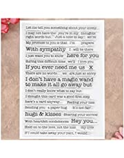 Kwan Crafts Words Letters hugs Kisses with Sympathy Clear Stamps for Card Making Decoration and DIY Scrapbooking