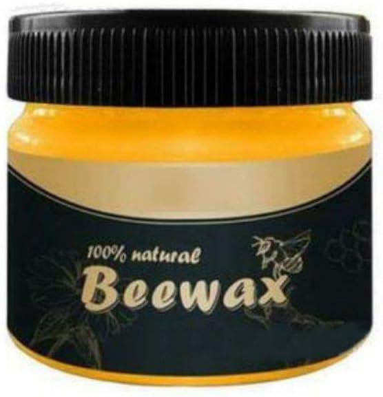 Beewax Wood Polish for Furniture Luster, Wood Seasoning Beewax for Floor Furniture Care Wood Cleaning and Wood Polishing, Natural Wood Protection Beewax Polish, 80g (Ship from US)