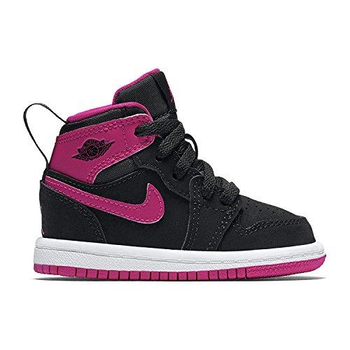 Nike Toddler Girl's Retro 1 Hightop Fashion Sneaker Black/Vivid Pink-White-Vivid Pink 7C