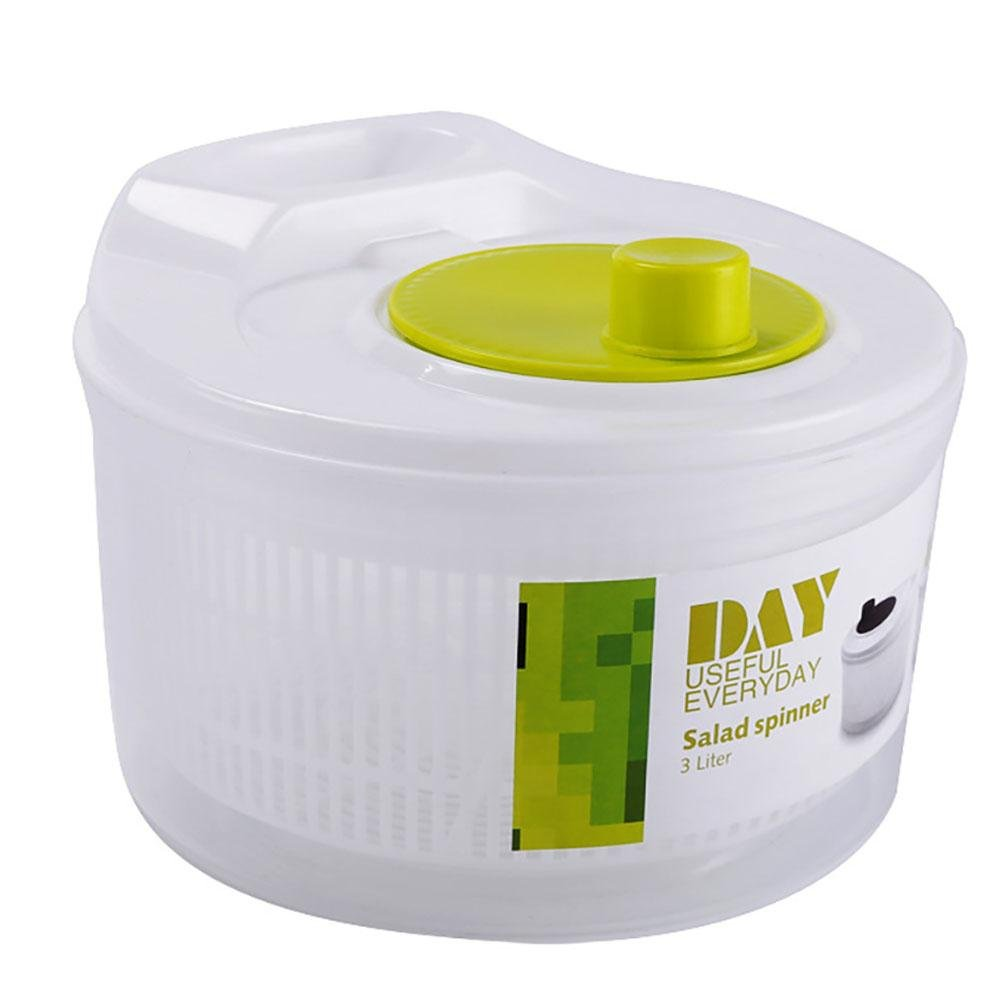 Big-time Salad Spinner, Large Manual Lettuce Dryer with Handle,Fruits and Vegetable Spinner,BPA Free,Quick Dry,Top Rack Dishwasher Safe,Easy Use,Kitchen Helper