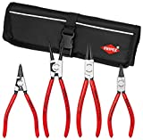 Knipex 9K 00 19 53 US Straight Circlip Snap-Ring Pliers Set in Pouch (4 Piece)