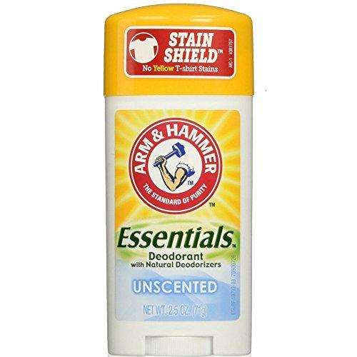 Arm & Hammer Essentials Natural Deodorant, Unscented 2.5oz