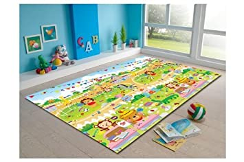laire Daniel White Red Lips Baby Play Mat Cotton Floor Gym Non-Toxic Non-Slip Reversible Washable,27.6x27.6IN